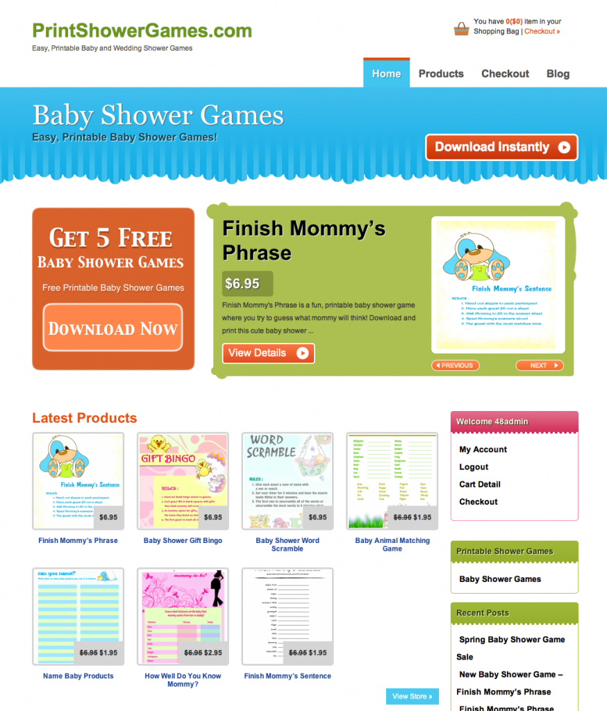 popular baby shower games